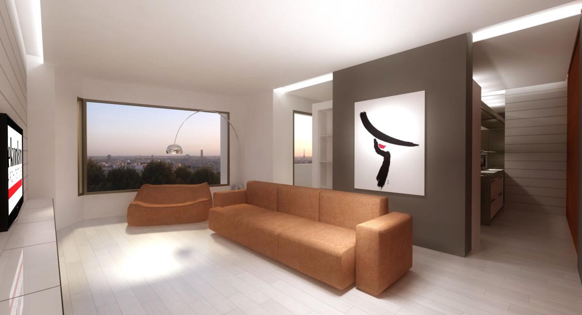 Interior design appartamento a mosca ekoplan for Appartamento interior design