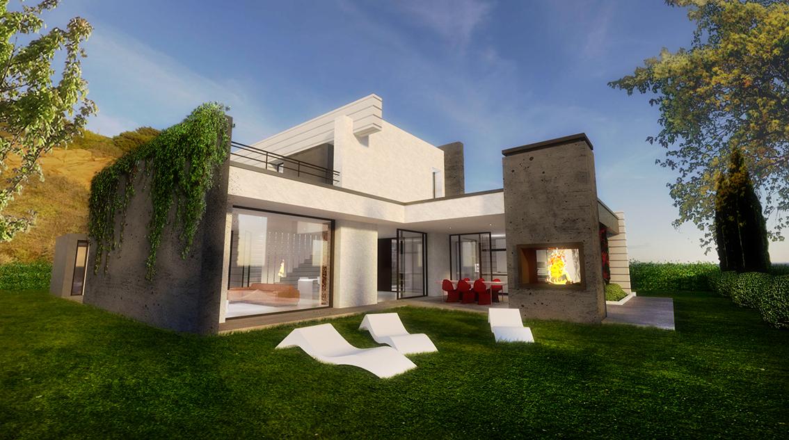 Concept villa unifamiliare moderna ekoplan for Piani di costruzione casa moderna