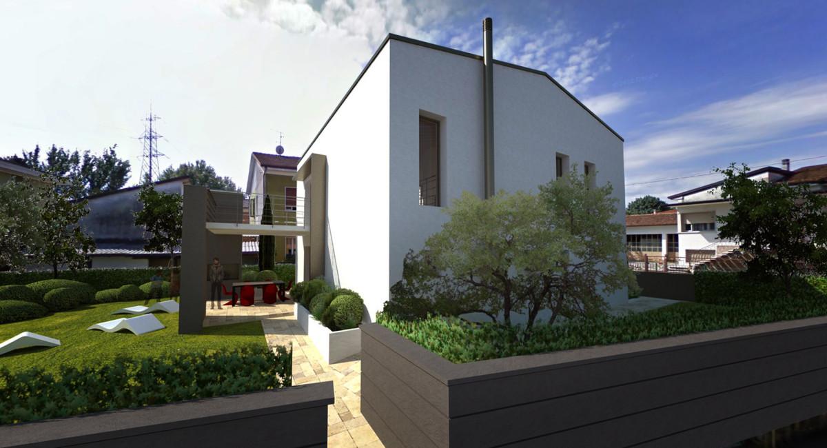 Villetta unifamiliare con finiture moderne ekoplan for Villette design moderno
